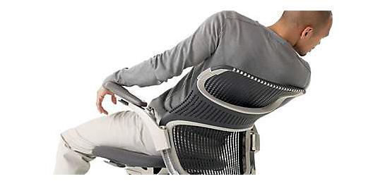 采用软塑料的办公座椅